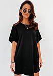 Женское платье, двунить, р-р С; М; Л; ХЛ (чёрный), фото 2