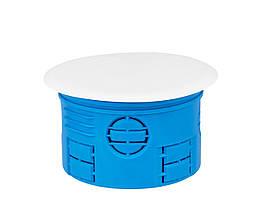 Коробка розподільна для суцільних стін з кришкою поліамід 960°С не горюча 70 мм SIMET Z70K