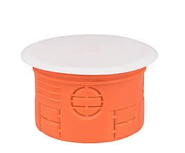 Коробка розподільна для суцільних стін з кришкою поліпропілен 650°С самозатухающая 70 мм SIMET Z70KF