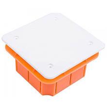 Коробка распределительная для сплошных стен с крышкой 76х76х52мм IP40 Elektro-Plast Pp/t 1