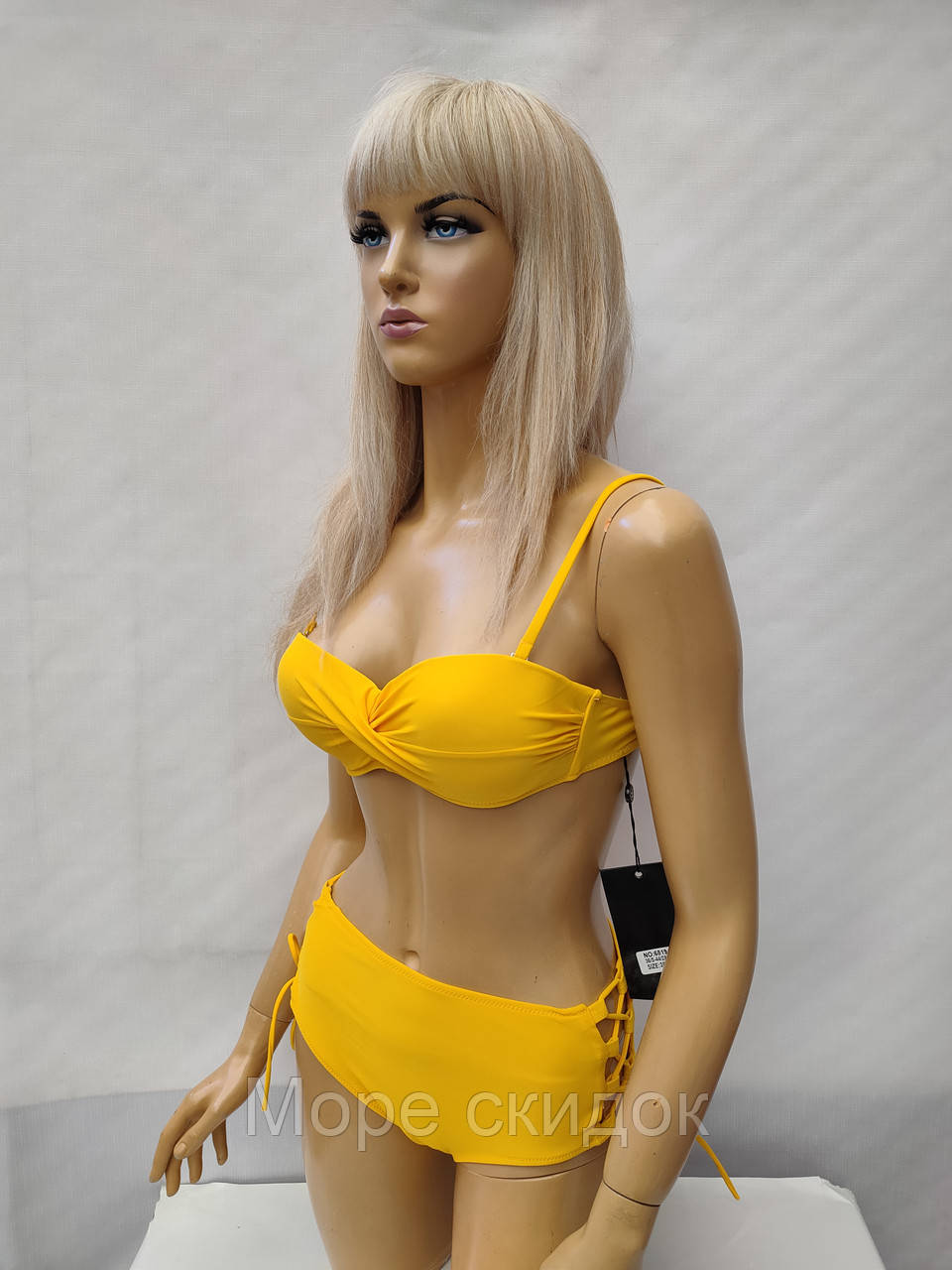 6Купальник FUBA 6819 желтый  (в наличии  44  размеры)