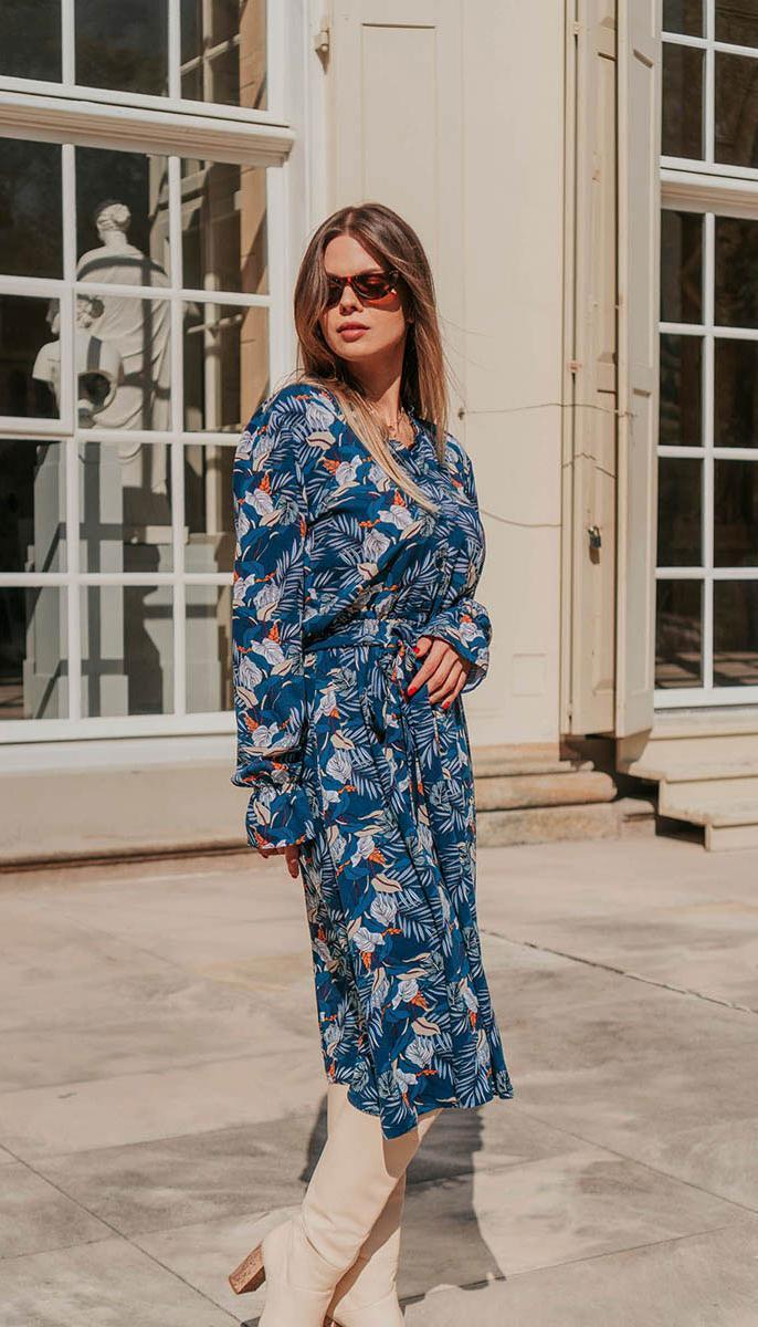 Сукня Mirolia-821 білоруський трикотаж, синій, 48