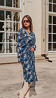 Сукня Mirolia-821 білоруський трикотаж, синій, 48, фото 1