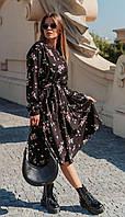 Платье Mirolia-837 белорусский трикотаж, черный, 44, фото 1