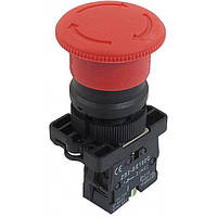 "Кнопка ""грибок"" d40мм с фиксацией NP2-ES542 (1NС) красная пласт. СНІNT"
