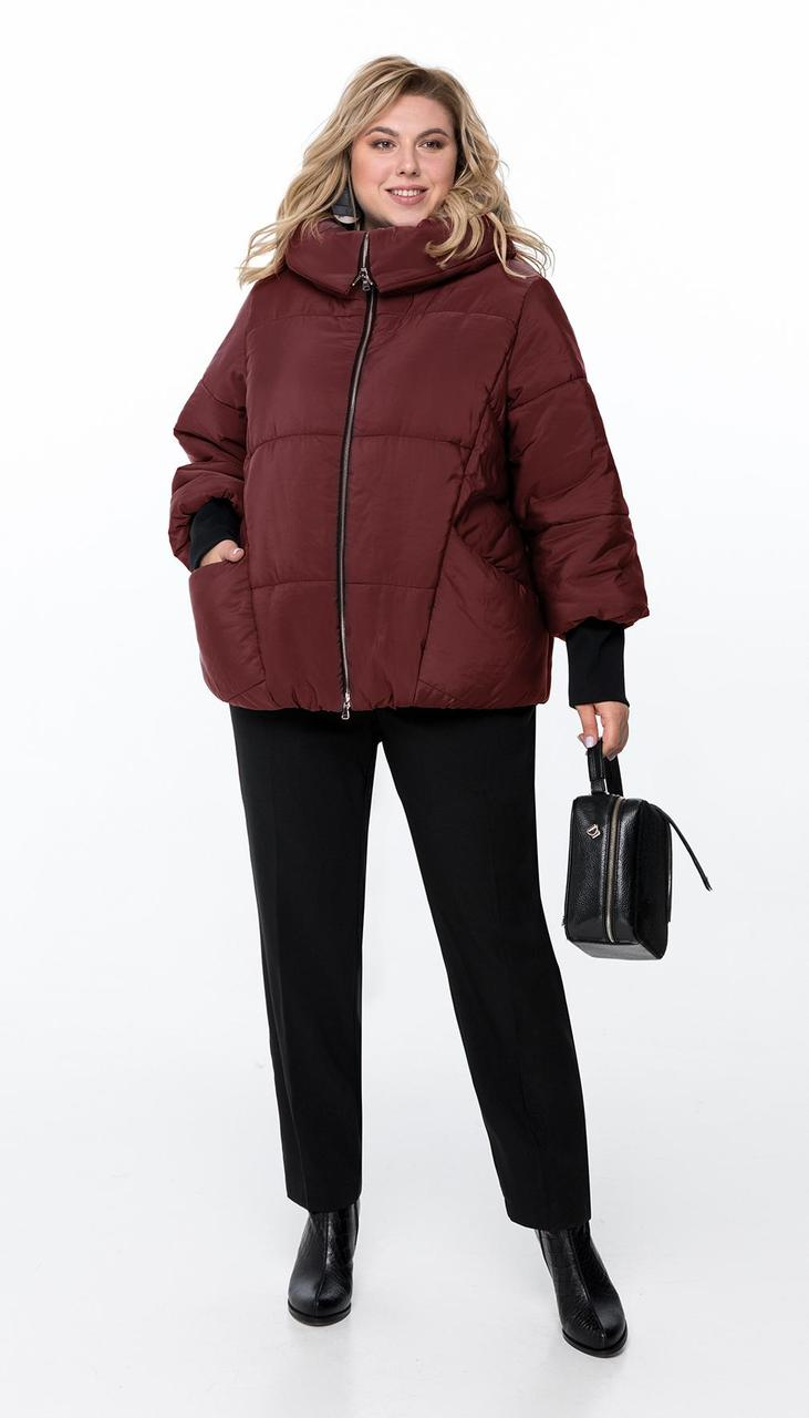 Куртка Pretty-954/3 белорусский трикотаж, бордо, 52