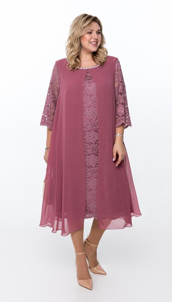 Платье Pretty-749/6 белорусский трикотаж, розовый , 56