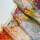 Палантин из вискозы 10368-3, павлопосадский палантин из вискозы, размер 80х200, фото 5