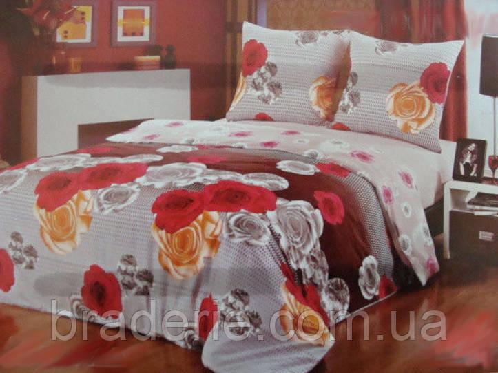 Сатиновое постельное белье семейное ELWAY 3780