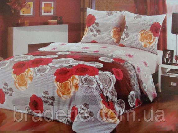 Сатиновое постельное белье семейное ELWAY 3780, фото 2