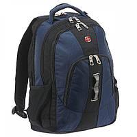 Рюкзак с отделением для ноутбука 15 SWISS GEAR Wenger Черный, Синий 28л