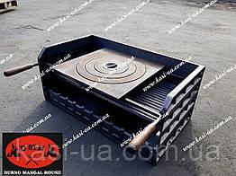 Чугунный мангал-гриль без ножек с чугунной плитой DMH700