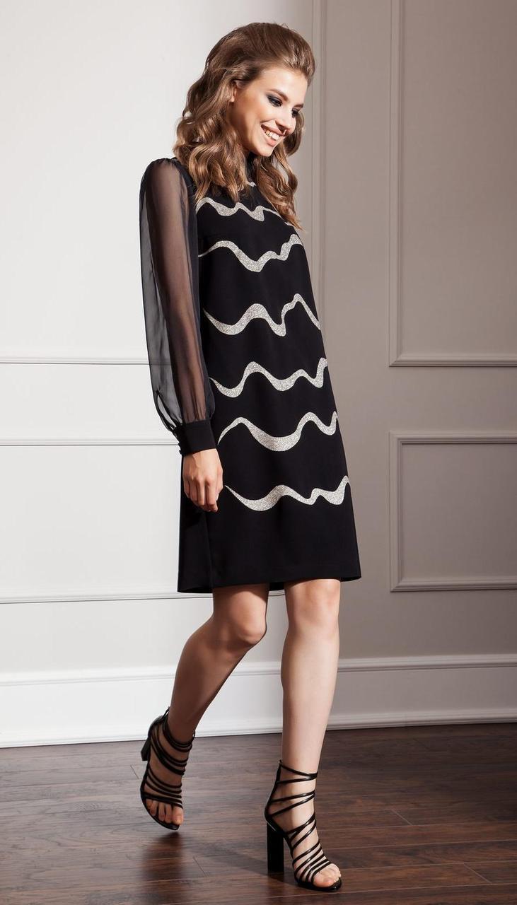 Платье Nova Line-50029 белорусский трикотаж, черный, 42