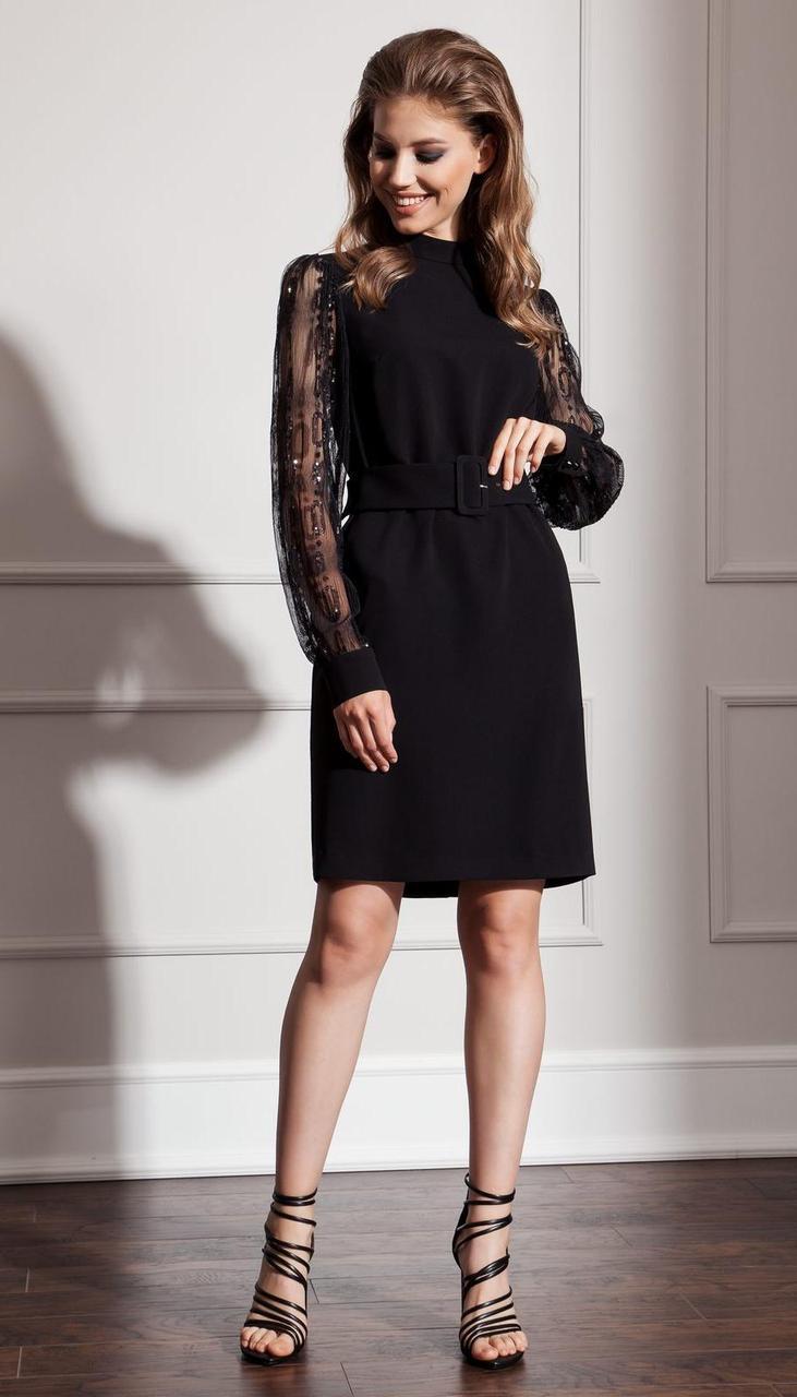 Платье Nova Line-50048 белорусский трикотаж, черный, 42
