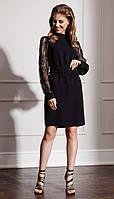 Платье Nova Line-50048 белорусский трикотаж, черный, 42, фото 1