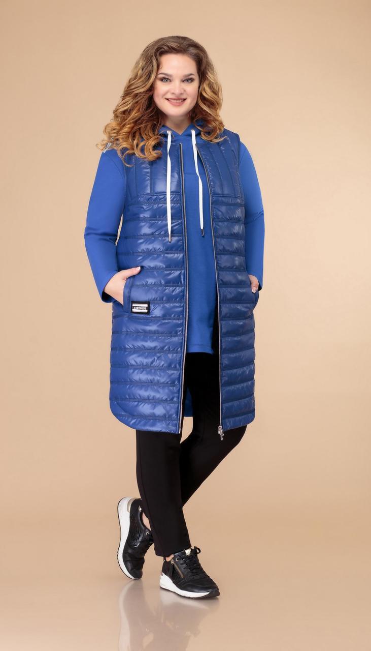 Спортивная одежда Svetlana Style-1490/1 белорусский трикотаж, черный + синий, 54