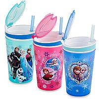 Детский стакан непроливайка-контейнер 2 в 1 Disney Frozen Snackeez Jr. Snack and Drink Cup