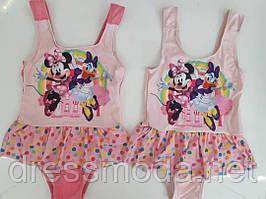 Купальник цельный для девочек Minnie 3-8 лет