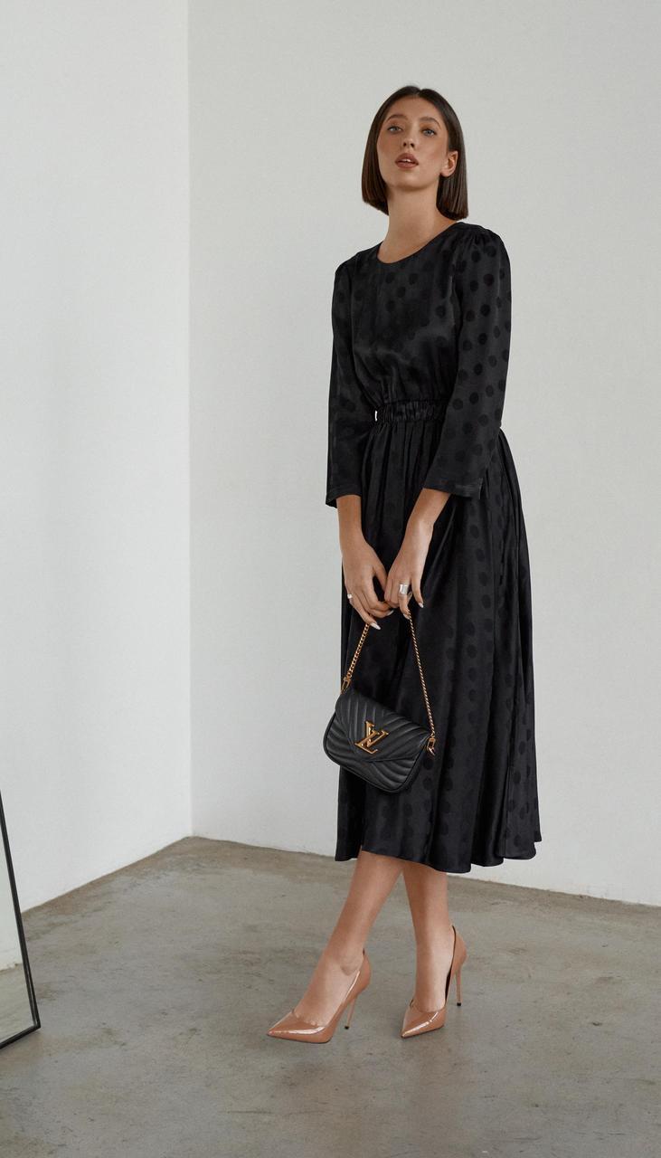 Платье Beauty-3653 белорусский трикотаж, черный, 42