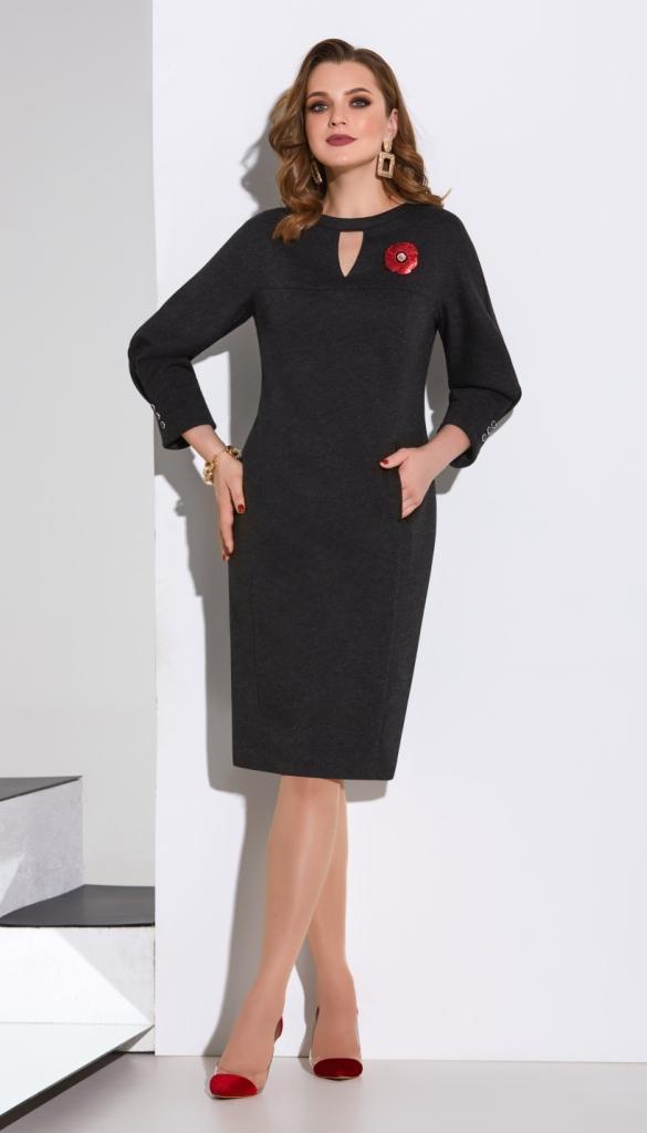 Платье Lissana-4126 белорусский трикотаж, черный, 50