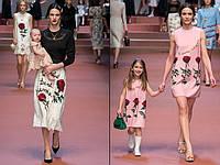 Family Lооk Парные платья D&G Rose мама+дочка