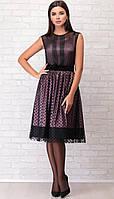 Платье LIMO-10038 белорусский трикотаж, черный-розовый, 44, фото 1