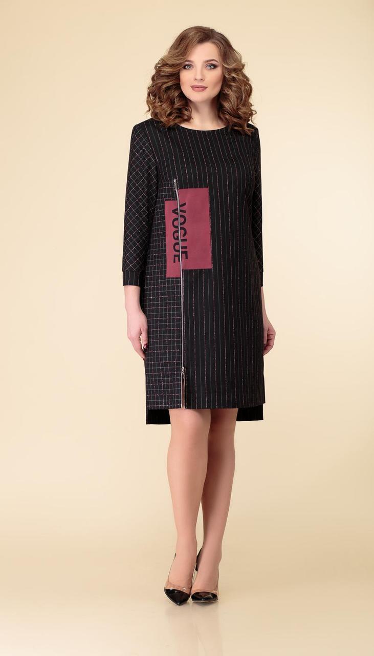 Платье Дали-2520 белорусский трикотаж, черный, 44