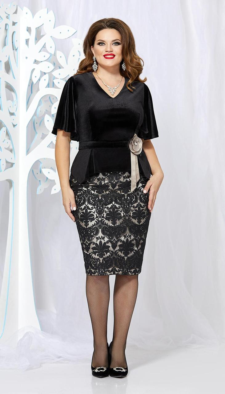 Костюм Mira Fashion-4545-6 белорусский трикотаж, черный, 50
