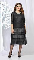 Платье Mira Fashion-4877 белорусский трикотаж, черный, 54