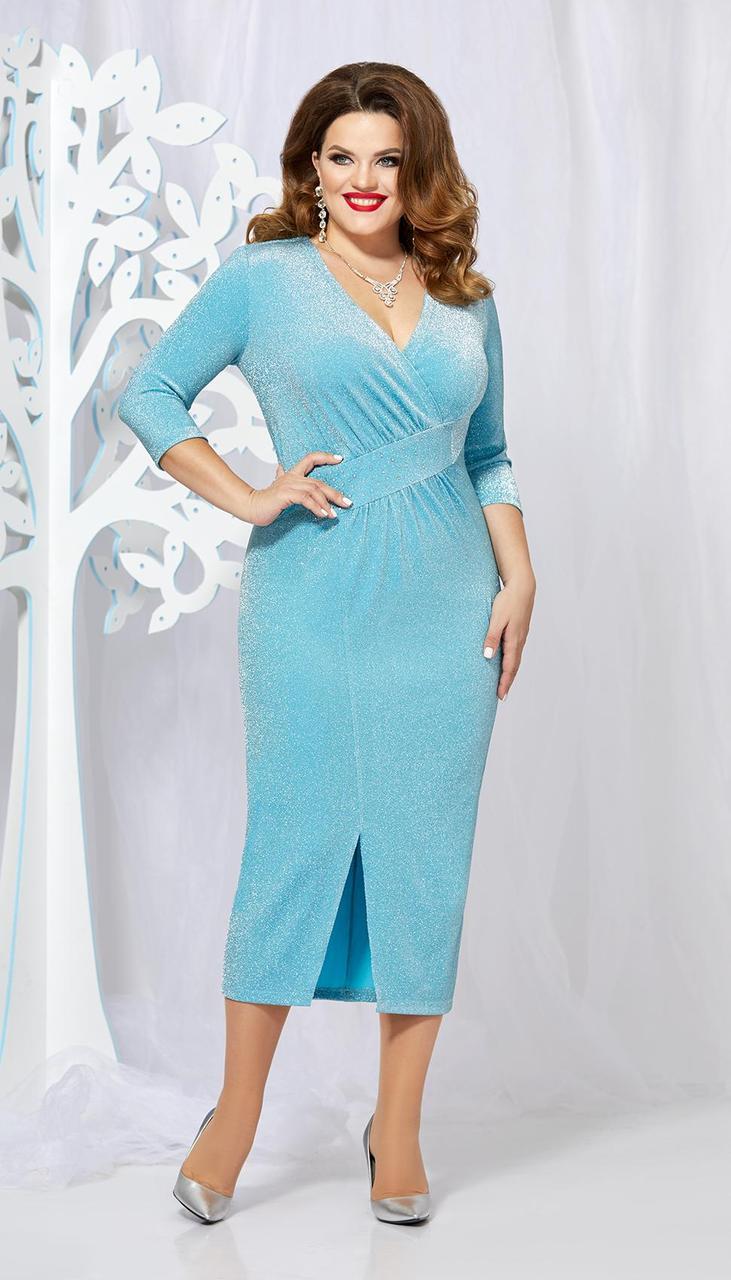 Платье Mira Fashion-4881 белорусский трикотаж, голубой, 50