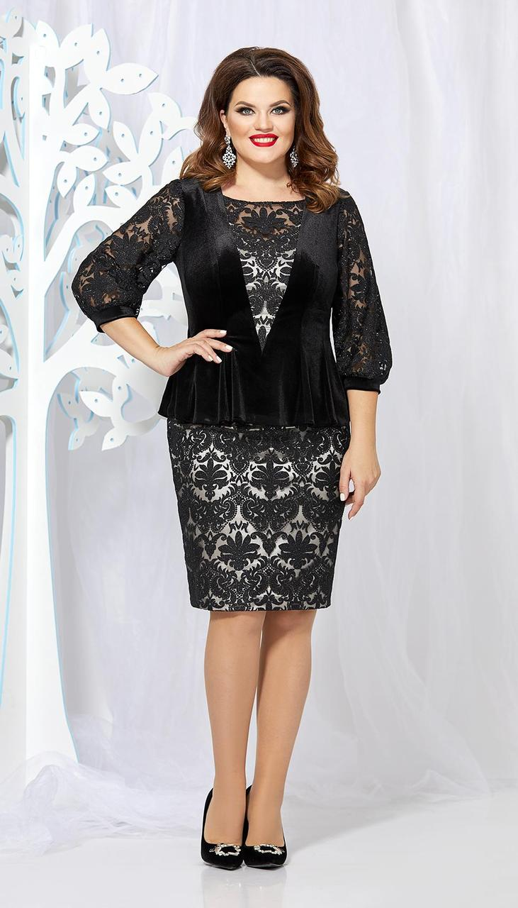 Костюм Mira Fashion-4882 білоруський трикотаж, чорний, 48