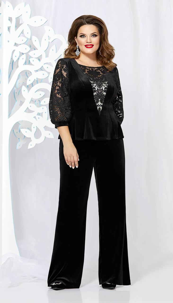 Костюм Mira Fashion-4892 белорусский трикотаж, черный, 48