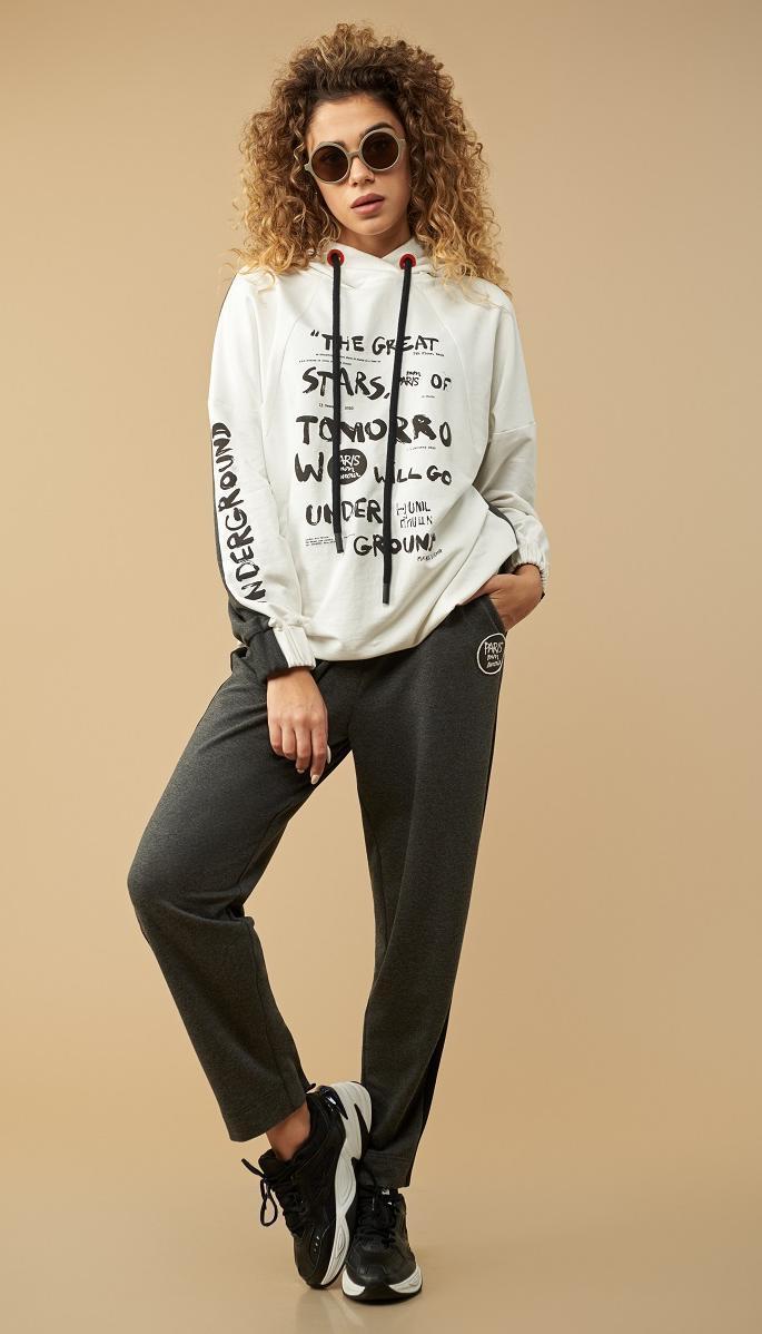 Спортивная одежда Сч@стье-9016-б белорусский трикотаж, серый + белый , 56