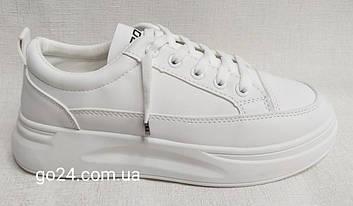 Кроссовки MARLEN D08-1 женские белые на платформе