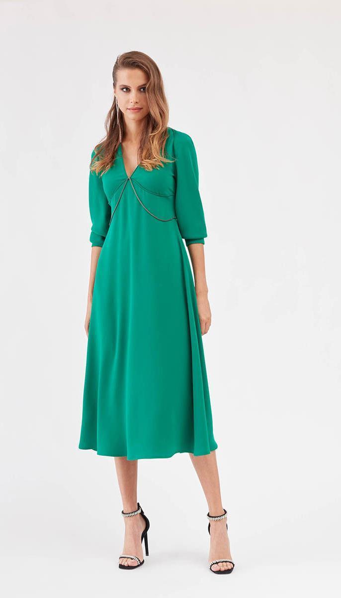 Сукня Favorini-31333 білоруський трикотаж, зелений, 42