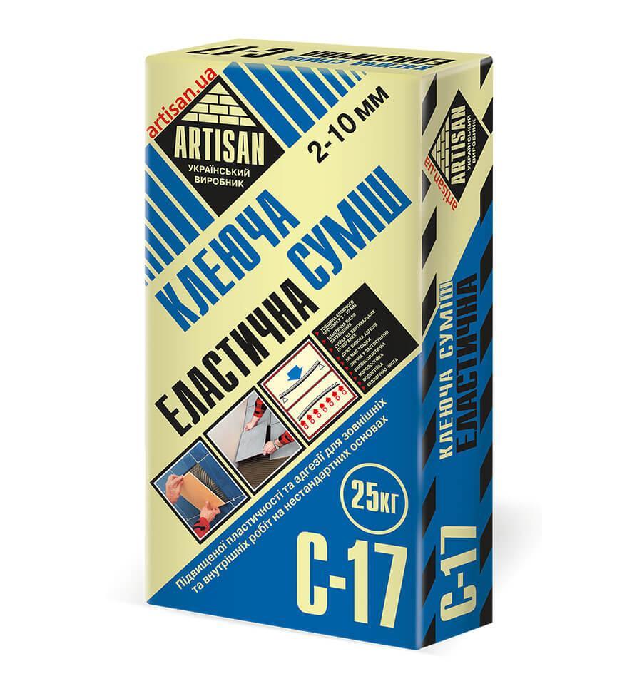 Клей для плитки ARTISAN C-17 эластичный (25 кг)