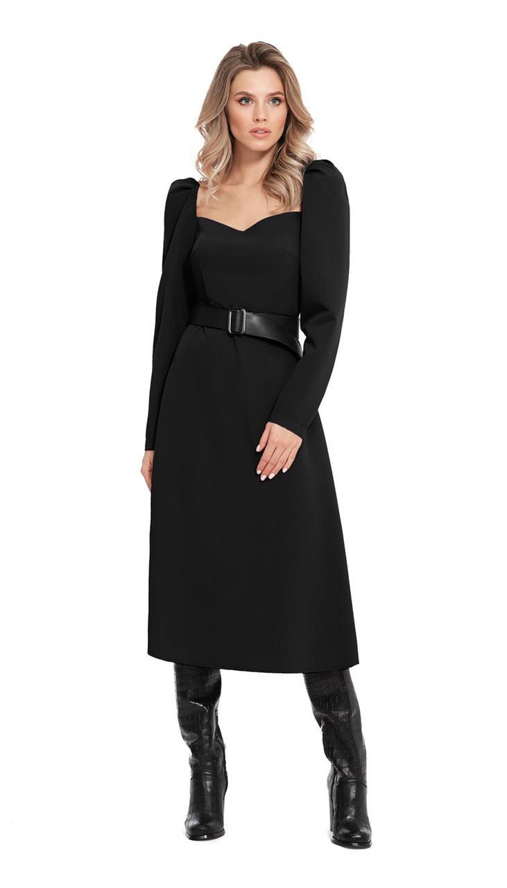 Сукня PiRS-949/1 білоруський трикотаж, чорний, 42
