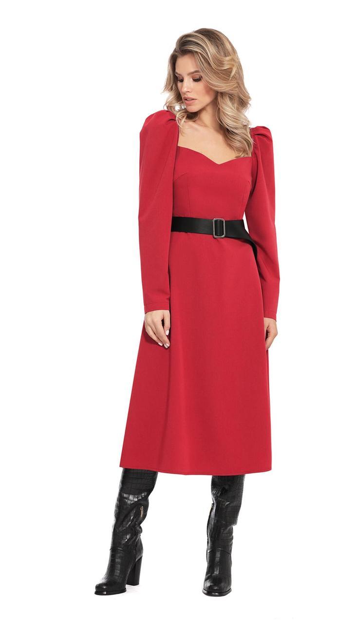 Сукня PiRS-949/2 білоруський трикотаж, червоний, 42