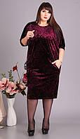 Платье Novella Sharm-3383-3 белорусский трикотаж, бордовые тона, 58