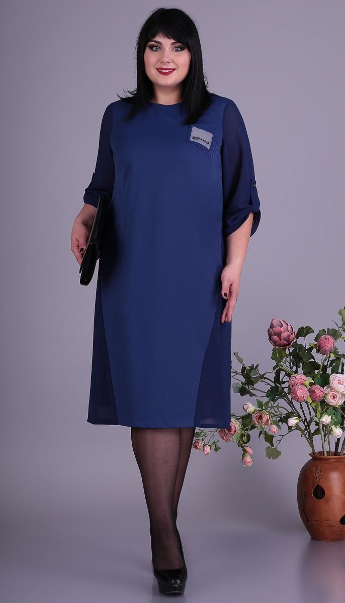 Сукня Novella Sharm-3645-з білоруський трикотаж, синій, 60