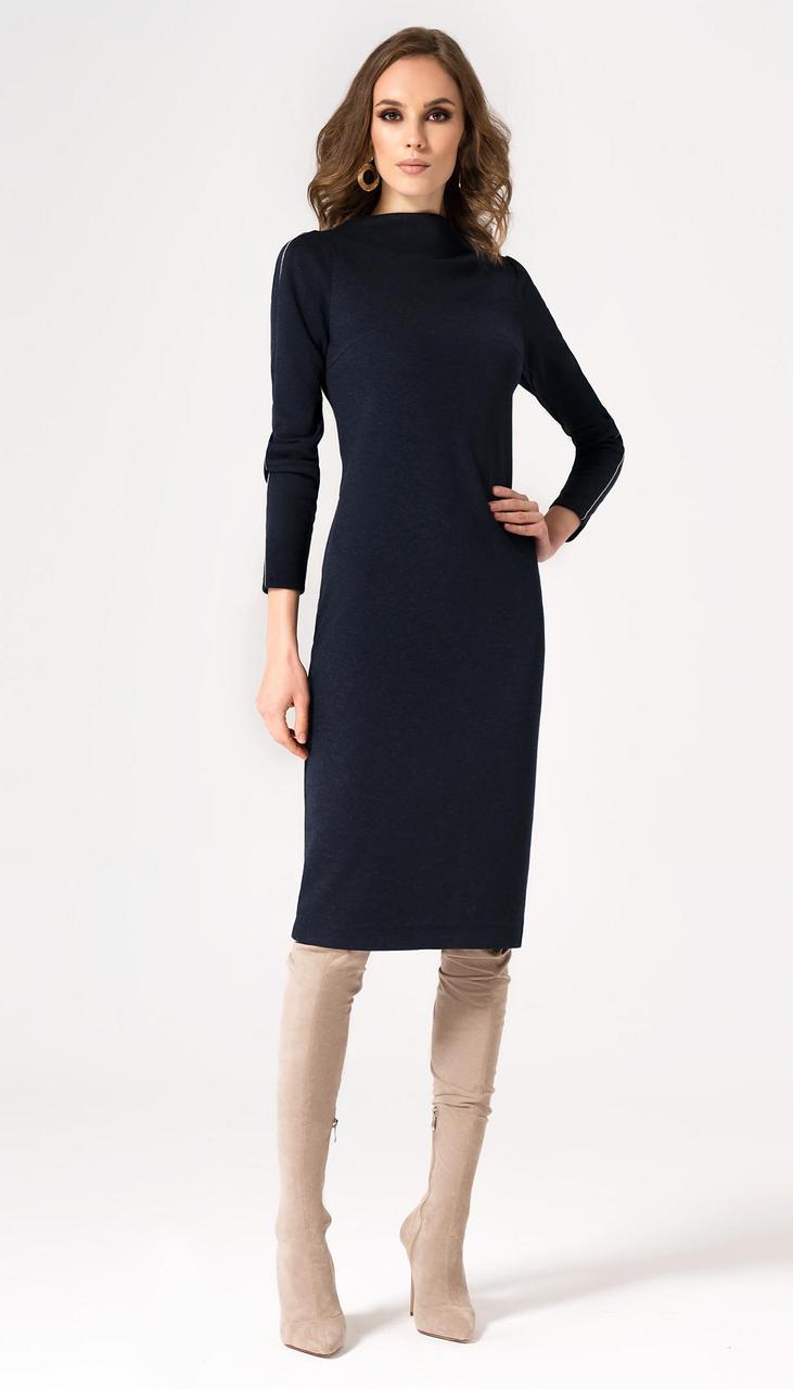 Сукня Пріоритет-22780Z білоруський трикотаж, темно-синій, 42