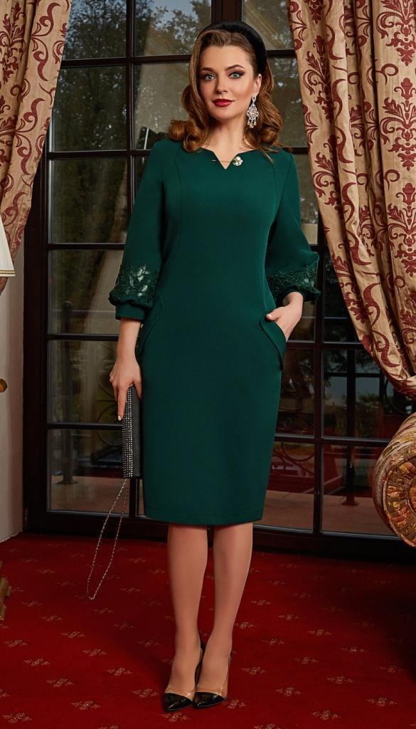 Платье Lissana-4158 белорусский трикотаж, зеленый, 54