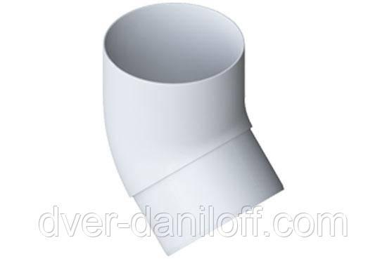 Коліно труби Альта-Профіль Еліт 45 градусів 95 мм білий