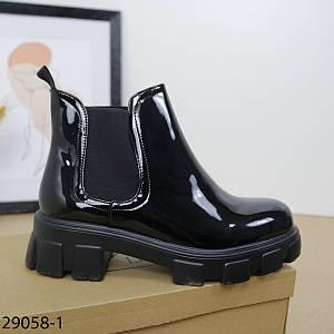 """Модные лаковые ботинки """"29058-1 (SH)"""