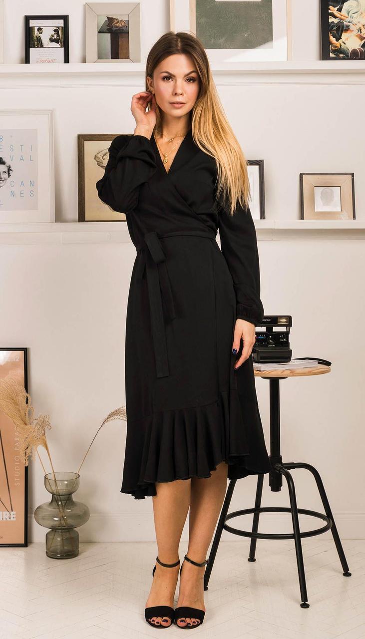 Платье Mirolia-759 белорусский трикотаж, черный, 44