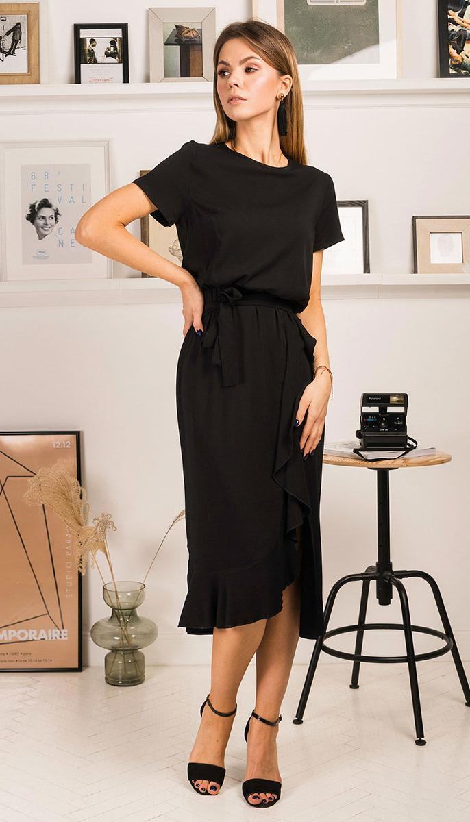 Платье Mirolia-753 белорусский трикотаж, черный, 44