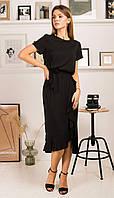 Платье Mirolia-753 белорусский трикотаж, черный, 44, фото 1