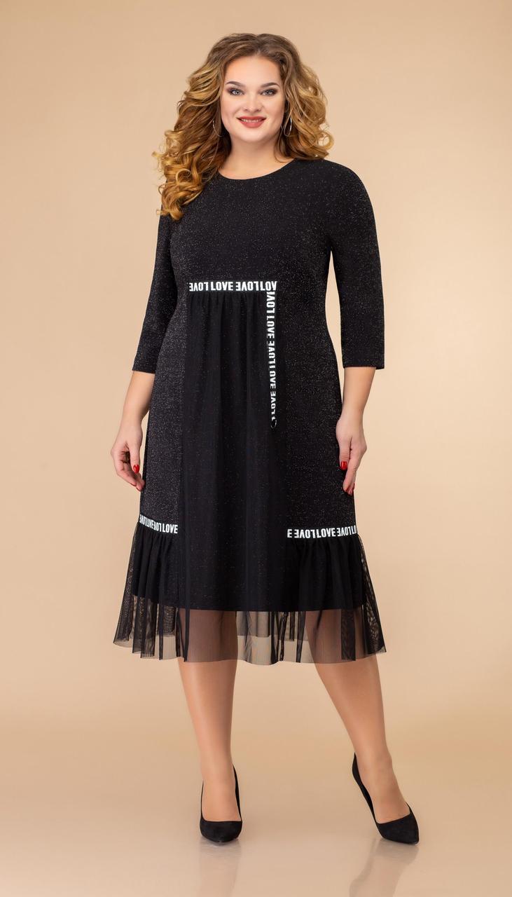 Платье Svetlana Style-1467 белорусский трикотаж, черный, 52