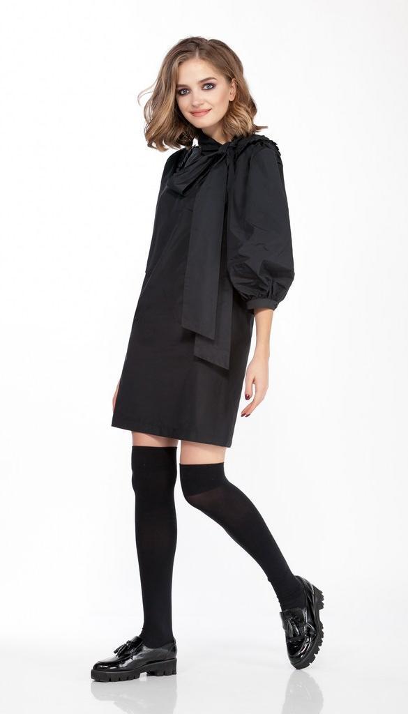 Платье Olegran-3690 белорусский трикотаж, черный, 44