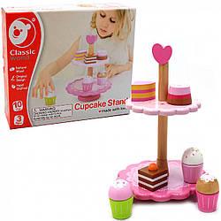 Деревянная игрушка Classic World «Набор с пирожными», 10 элементов (4113)